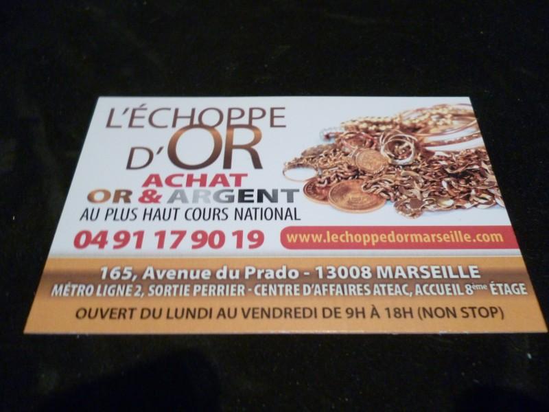 Carte De Visite Notre Bureau Dachat Dor Marseille 165 Avenue Du Prado 13008